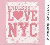 Love New York Typography  T...