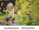 cute child girl having fun... | Shutterstock . vector #234162961