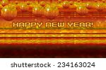 mosaic happy new year background | Shutterstock . vector #234163024