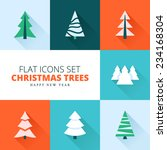 christmas trees collection. set ... | Shutterstock .eps vector #234168304