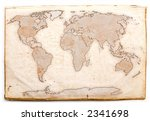 ancient world map | Shutterstock . vector #2341698