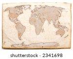 ancient world map   Shutterstock . vector #2341698