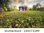 farm  cottage set in old rural... | Shutterstock . vector #234171289