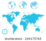 world map and globe with... | Shutterstock .eps vector #234175765