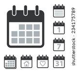 collection of calendar icons | Shutterstock .eps vector #234175789