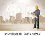 business engineer planing at... | Shutterstock . vector #234178969