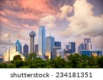 dallas city skyline at sunset ... | Shutterstock . vector #234181351