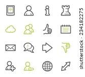 social media web icons | Shutterstock .eps vector #234182275