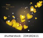 holiday banners with blue silk... | Shutterstock .eps vector #234182611