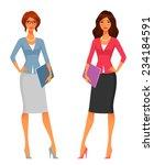 cute office girls in smart...   Shutterstock .eps vector #234184591