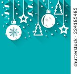 illustration xmas background... | Shutterstock .eps vector #234185485