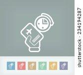 last minute airplane ticket | Shutterstock .eps vector #234194287