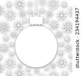 illustration christmas paper... | Shutterstock . vector #234194437