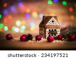 Beautiful Christmas House With...