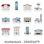 buildings icons | Shutterstock .eps vector #234201679