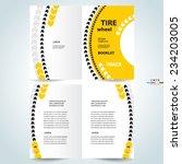 brochure design template vector ... | Shutterstock .eps vector #234203005