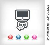 videotape icon   Shutterstock .eps vector #234203221