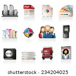offset printing icons | Shutterstock .eps vector #234204025