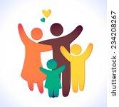 happy family icon multicolored... | Shutterstock .eps vector #234208267