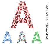 colored font design set  ... | Shutterstock .eps vector #234213544