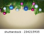 beautiful christmas decoration... | Shutterstock . vector #234215935