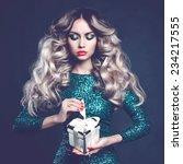fashion photo of luxury blonde... | Shutterstock . vector #234217555