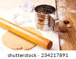christmas baking. process of... | Shutterstock . vector #234217891