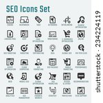 Seo Related Big Vector Icon Set