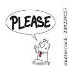 please. joe the businessman is... | Shutterstock .eps vector #234224557