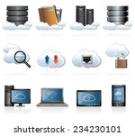 cloud computing icons | Shutterstock .eps vector #234230101