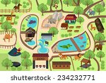 a vector illustration of map of ... | Shutterstock .eps vector #234232771