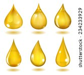 set of six opaque drops of...
