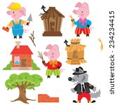 Three Little Pigs Vector...