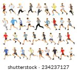 large collection of running... | Shutterstock .eps vector #234237127
