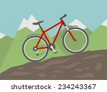 mountain bike flat style... | Shutterstock .eps vector #234243367