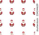christmas seamless white... | Shutterstock .eps vector #234244639