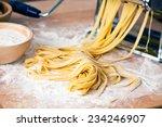 fresh pasta and pasta machine... | Shutterstock . vector #234246907