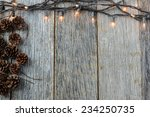 christmas lights and pine cones ... | Shutterstock . vector #234250735