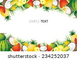 Mixed Tropical Fruits  Frame ...