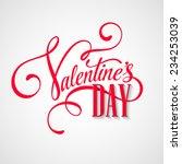 inscription valentine's day... | Shutterstock .eps vector #234253039