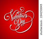 inscription valentine's day... | Shutterstock .eps vector #234253045