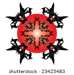 black tribal tattoo design... | Shutterstock .eps vector #23425483