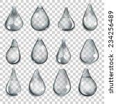 set of transparent drops of... | Shutterstock .eps vector #234256489