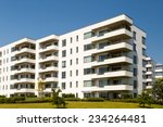 apartment building on a sunny... | Shutterstock . vector #234264481