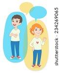 vector illustration. two... | Shutterstock .eps vector #234269065