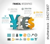 financial infographic set with... | Shutterstock .eps vector #234271837