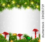shiny christmas tree with gift... | Shutterstock .eps vector #234281719