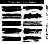 vector set of grunge brush... | Shutterstock .eps vector #234283885