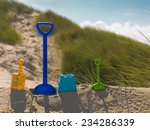 colorful toys at the beach | Shutterstock . vector #234286339