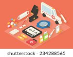 medical and healthcare vector... | Shutterstock .eps vector #234288565